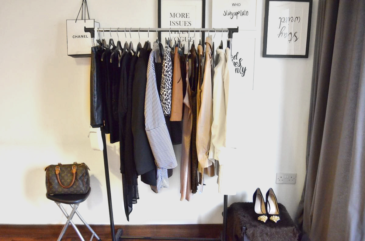 a neatly detoxed wardrobe