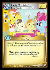 My Little Pony Mr. & Mrs. Cake, Busy Parents Equestrian Odysseys CCG Card