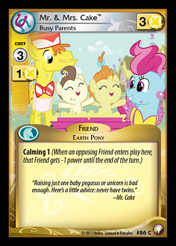 Mlp Mr Amp Mrs Cake Busy Parents Ccg Cards Mlp Merch