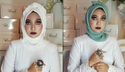 Kerudung Bawal Pocong asal desainer Malaysia