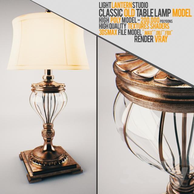 3dsky pro Classic Old Table Lamp - GFXART7
