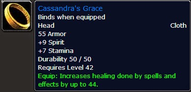 WoW Vanilla : Healing as a Priest: Pre-raid gear (Dungeons