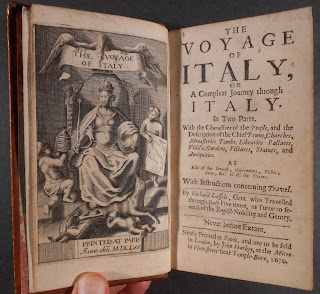 Frontispiece and title page to The Voyage of Italy