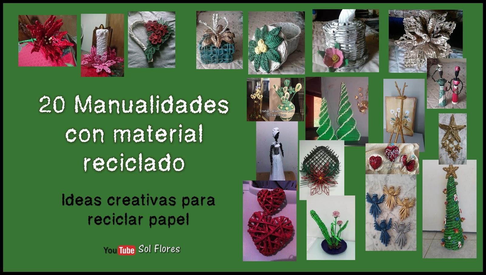 20 manualidades con material reciclado ideas creativas - Ideas creativas para reciclar ...