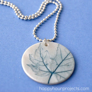 Make A Leaf Clay Necklace