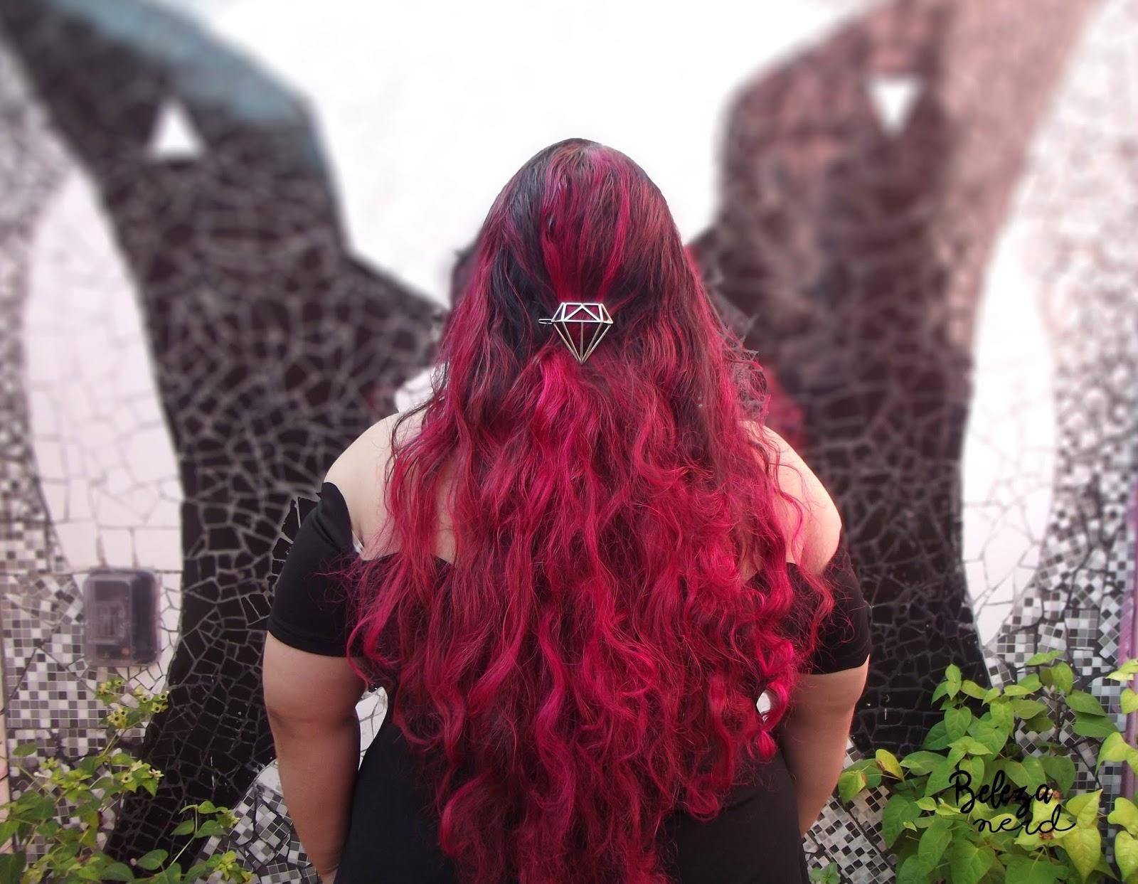 Tinta rosa para o cabelo