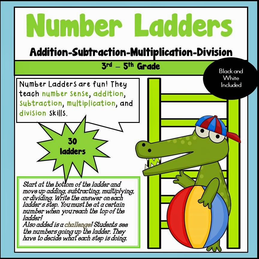 Number Ladders Multiply Divide Add Subtract