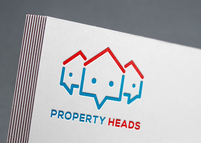 Property Heads Logo Mockup