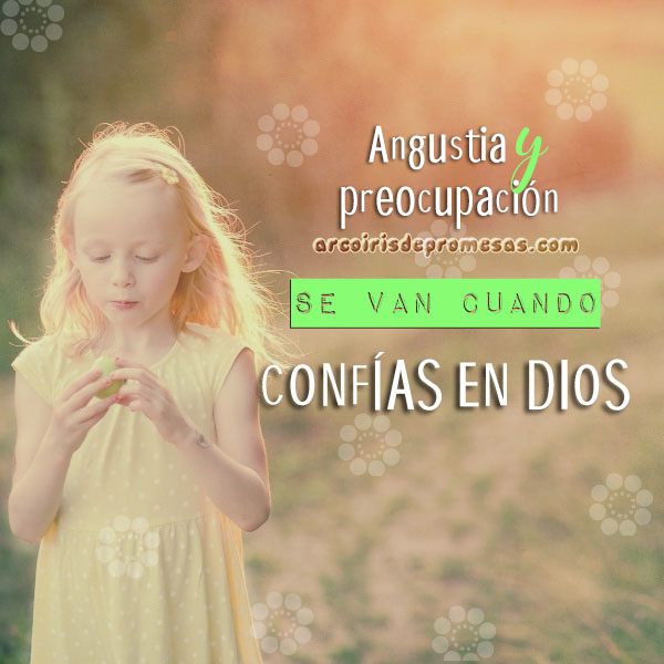no te inquietes mensajes cristianos con imágenes arcoiris de promesas
