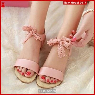 FIDS027 Sandal Wanita Mu12 Pink Flat BMGShop