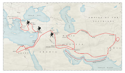Map of Alexander the Great's travels