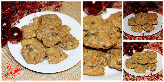 Christmas oatmeal pumpkin cookies