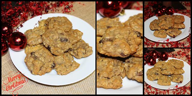 Christmas oatmeal pumpkin cookies