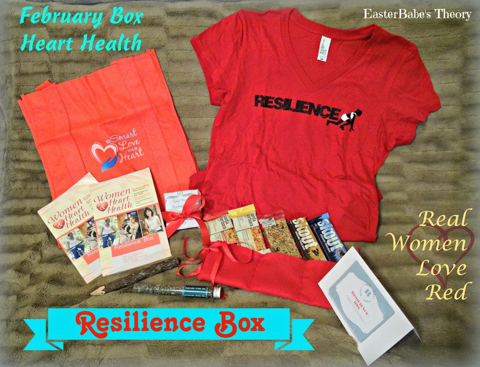 Resilience Subscription Gift Box Heart Health Womens Awareness Diseases Organic snacks