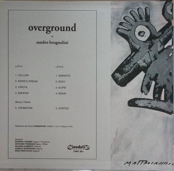 Johnkatsmc5 Sandro Brugnolini Overground 1970 Italy