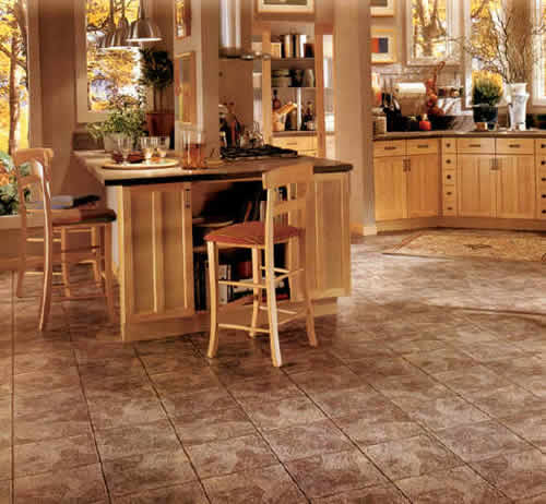 Take A Peek At This Gallery Of Linoleum Flooring Ideas: Choosing Various Options For Kitchens Flooring