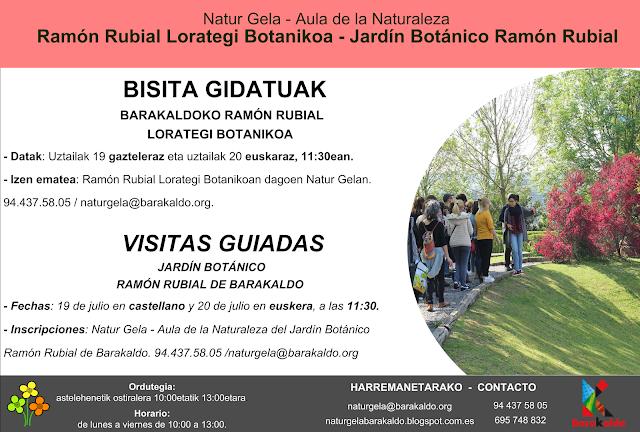 Cartel de las visitas guiadas al botánico