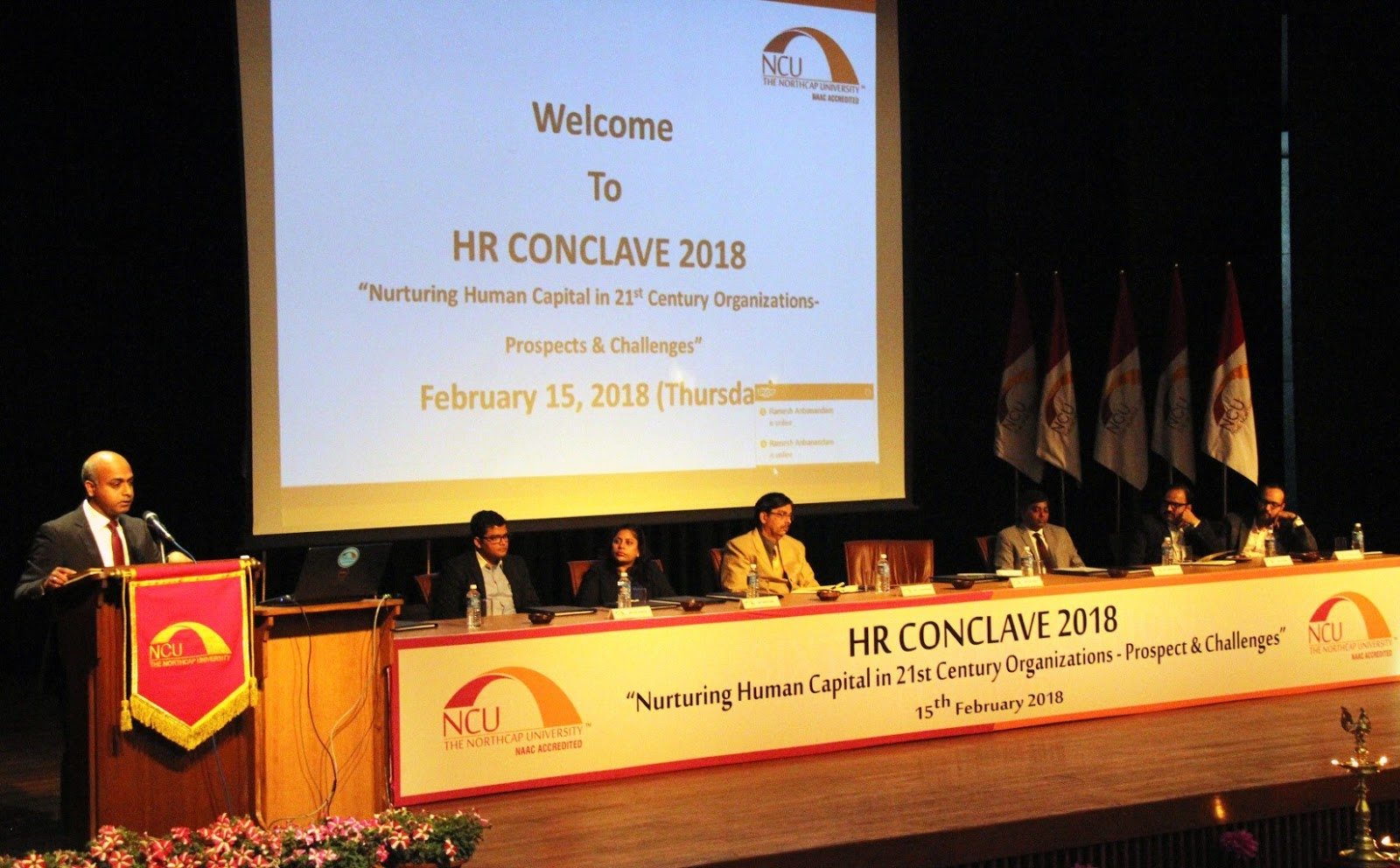 The Northcap University Gurgaon Blog Hr Conclave 2018 At Ncu Digital Tachometer Using 8051 Delivering Welcome Address Vice Chancellor Prof Hb Raghavendra Said That In Todays Dynamic Work Environments Nothing Is More Important Than