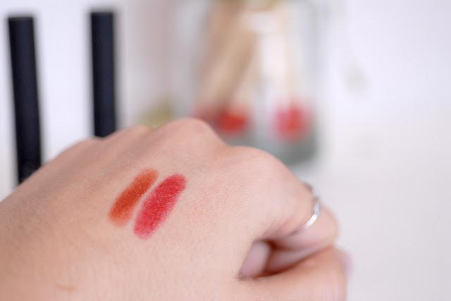 Toute de rose poudrée - Nars Pure Matte rouges à lèvres