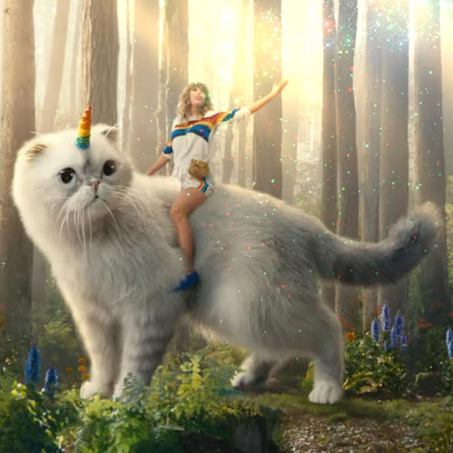 Taylor Swift Riding Her Cat Wallpaper Engine