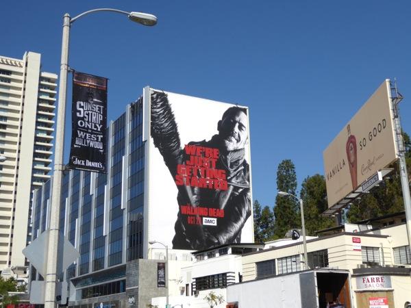 Giant Walking Dead season 7 billboard