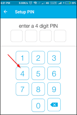 enter 4 digit pin