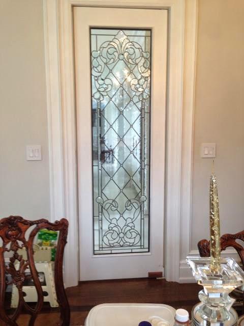 Glassworks Studio Leaded Glass Interior Door Inserts With