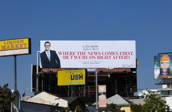 Late Show Stephen Colbert 2018 Emmy FYC billboard