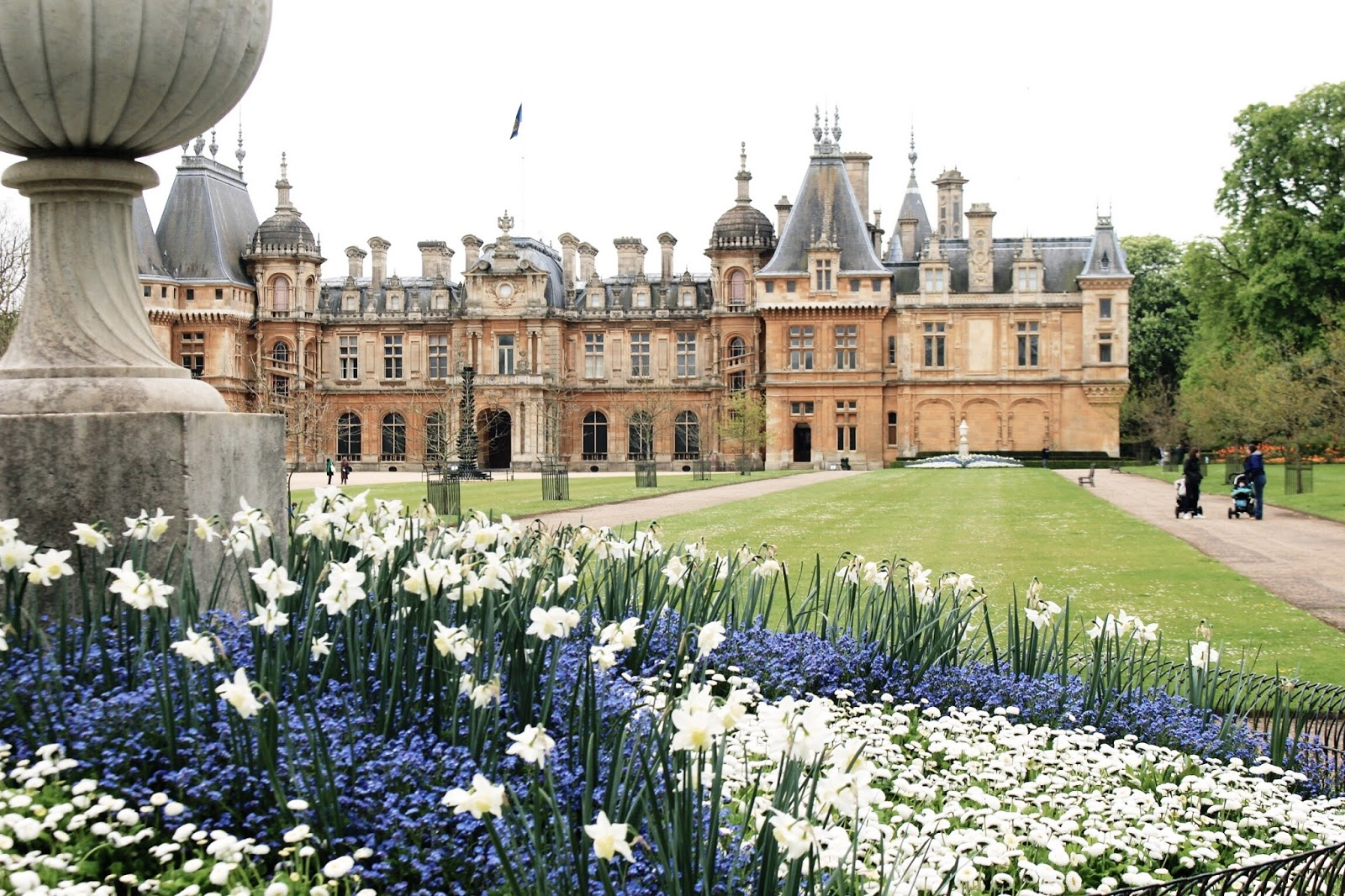 Waddesdon Manor in Spring With Flowers