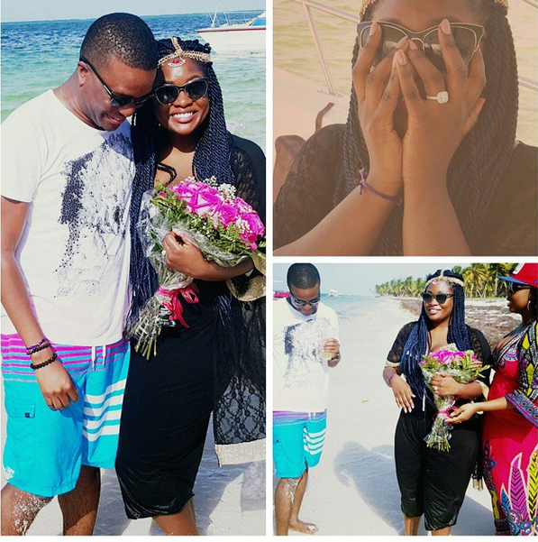 LOVELY! Toolz and Tunde Demurun are engaged (Photos)