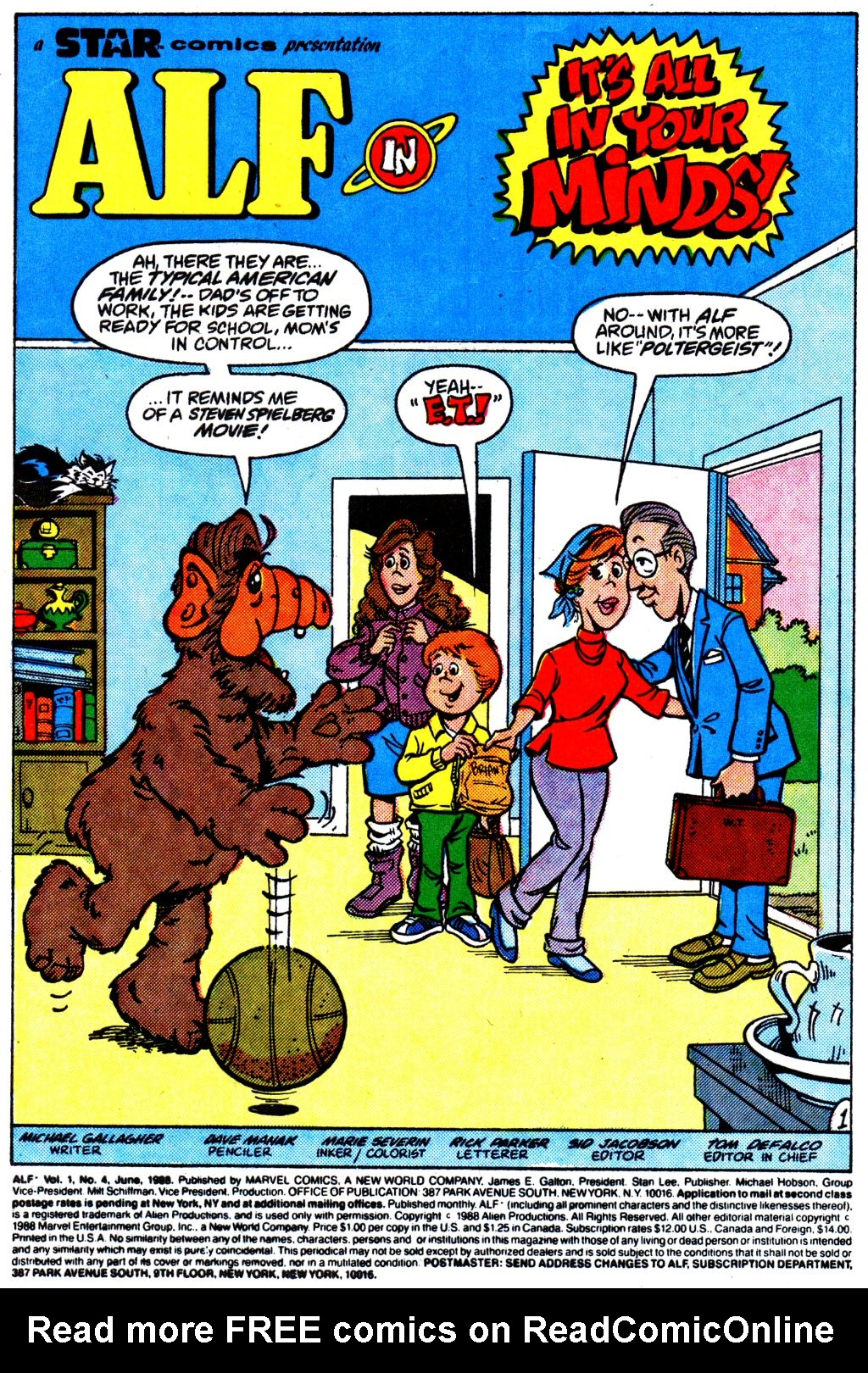 Read online ALF comic -  Issue #4 - 2