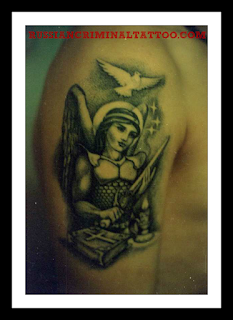Girl with a sword tattoo