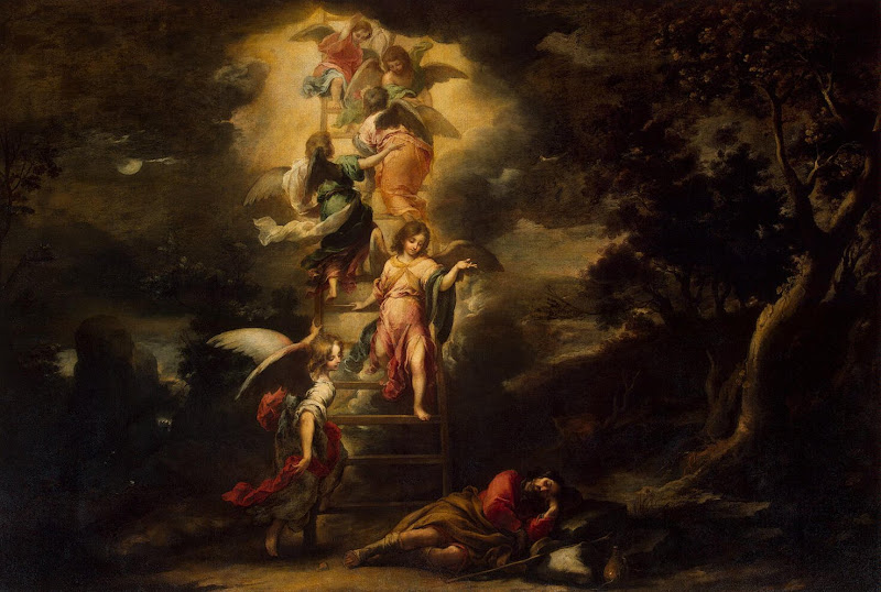 Jacob's Dream by Bartolome Esteban Murillo - Christianity, Religious Paintings from Hermitage Museum