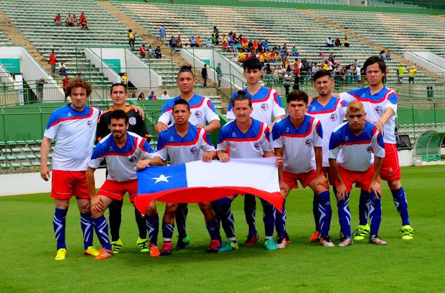 Seleção Chilena Masculina de Futebol de Surdos Foto Joaquim Dantas