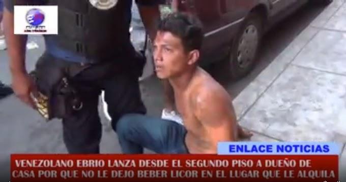 Ciudadano venezolano lanzó del segundo piso a sujeto que le reclamó por tomar licor| VÍDEO