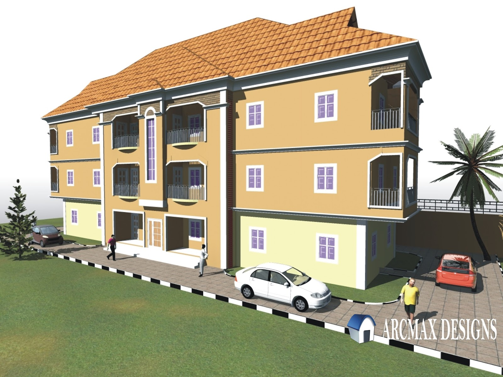 Two storey block of flats designs