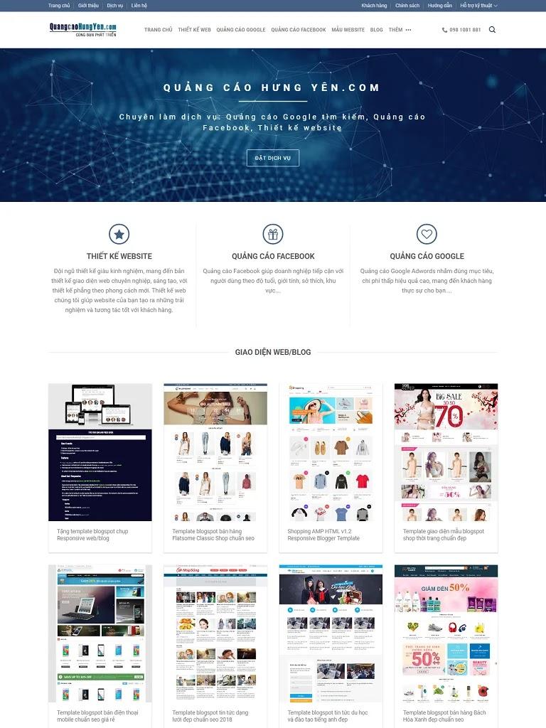 Flatsome Blogger Theme bán giao diện và dịch vụ - Ảnh 1