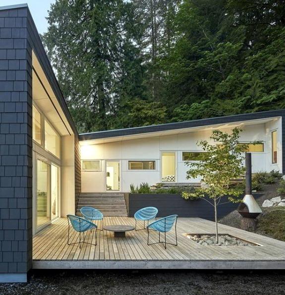 rumah minimalis cantik teras panggung terbuka