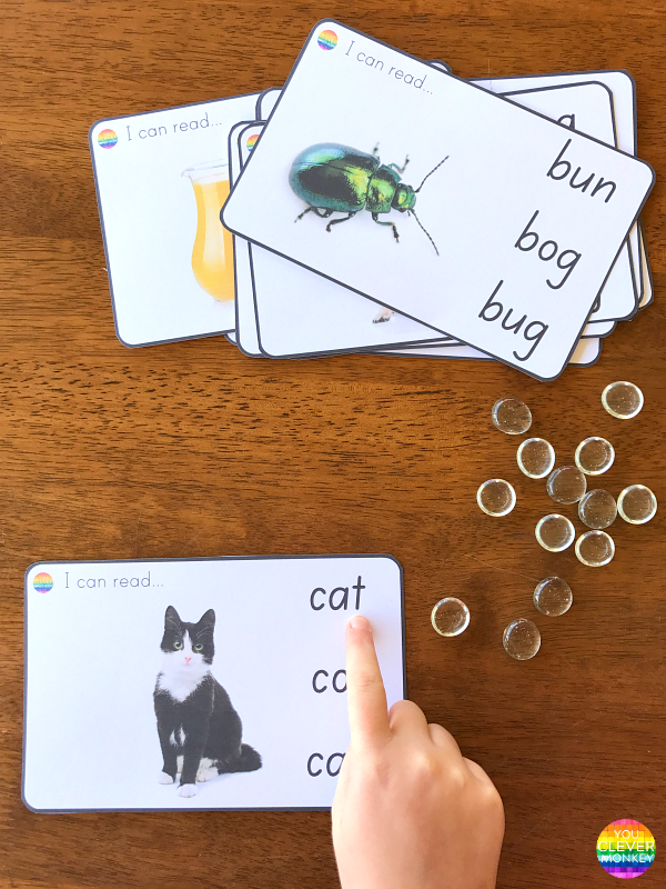 CVC I Can Read Cards | you clever monkey