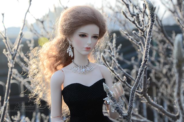 Handmade jewellery set for Anthemis Daisy Raccoon Doll