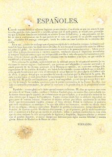 Manifiesto del Rey a la Nación Española
