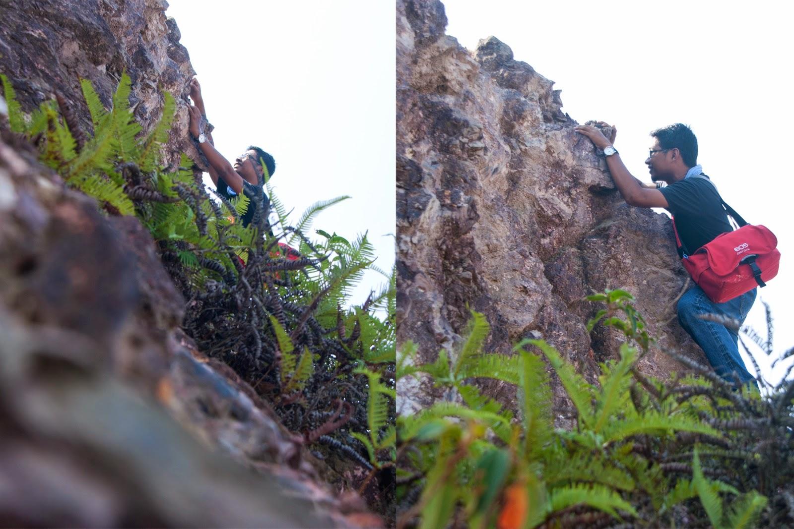 Kesungguhan, panjat bukit, hiking, gambar cantik, arzmoha,