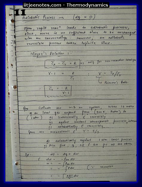 Thermodynamics chemistry