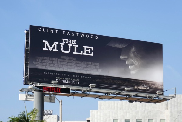 The Mule movie billboard