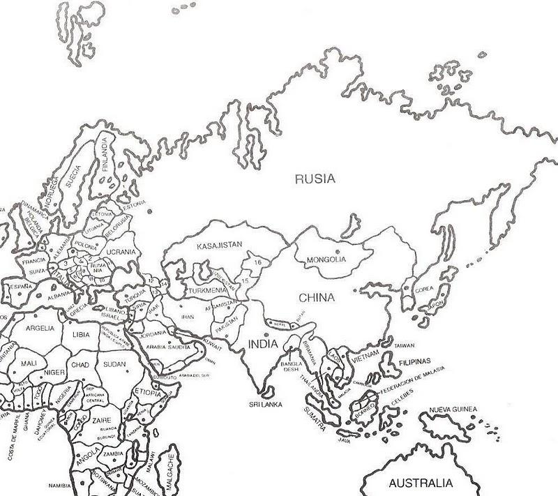 Magnífico Mapa De áfrica Para Colorear Festooning - Dibujos Para ...