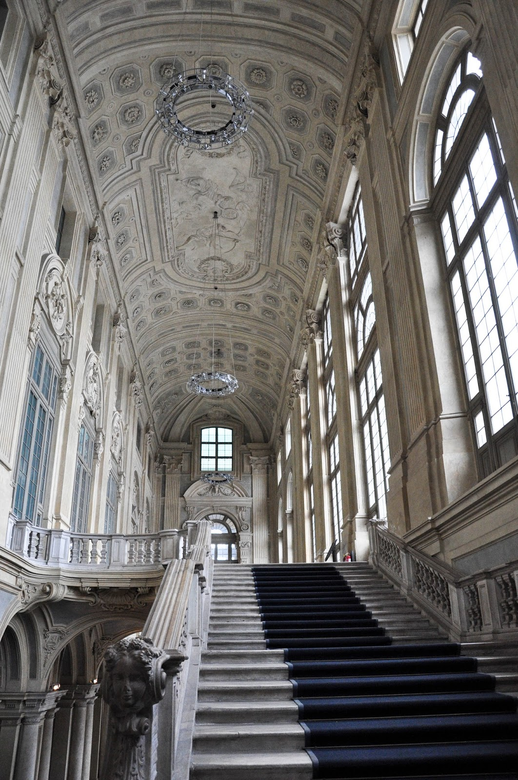 The upstair entrance hall, Palazzo Madama, Turin, Italy