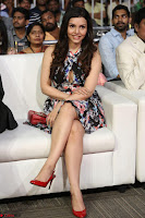 Kyra Dutta in a Deep neck Small Dress at Shamanthakamani pre release function ~  Exclusive 055.JPG