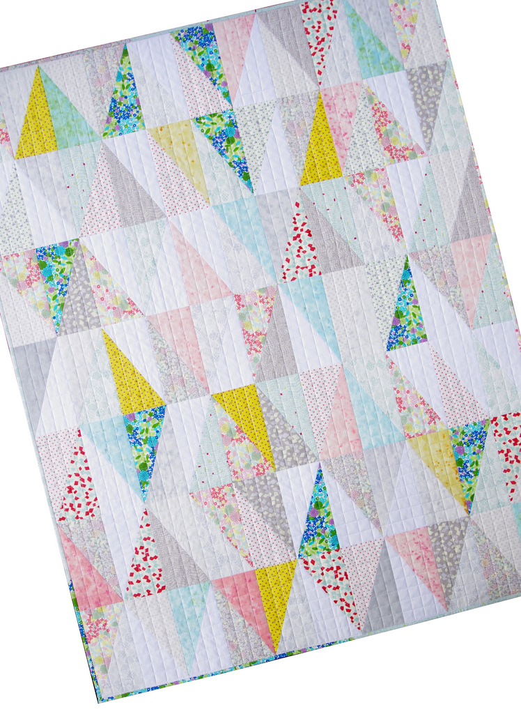 Irome Half Rectangle Triangle Quilt by Red Pepper Quilts