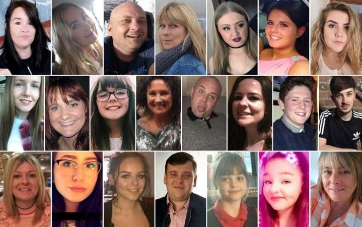 22 victims of manchester attack