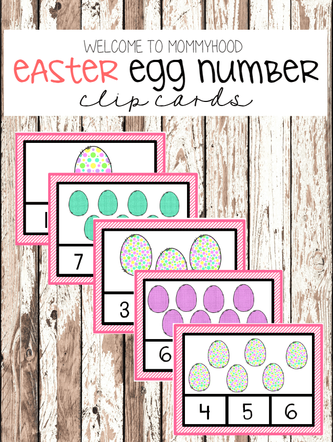 Easter Number Clip Cards by Welcome to Mommyhood  #easteractivities, #montessoriactivities, #preschoolactivities, #easter, #kidsactivities